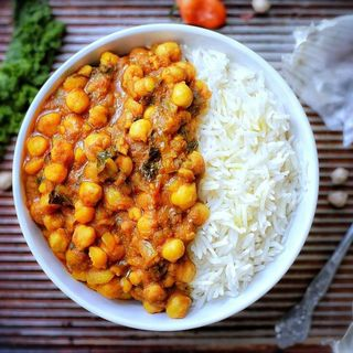 Vegan Chickpea Curry and Rice